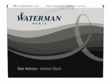 NABOJE Waterman BLACK/INTENSE BLACK long - czarny, długi 8 szt.