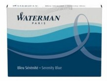 NABOJE Waterman FLORIDA/SERENITE BLUE long - niebieski, długi 8 szt.