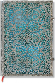 NOTES PAPERBLANKS SILVER FILIGREE MAYA BLUE MINI LINIE