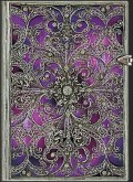 NOTES PAPERBLANKS SILVER FILIGREE AUBERGINE GRANDE gładki