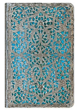 NOTES PAPERBLANKS SILVER FILIGREE MAYA BLUE MINI CLASSIC LINIE