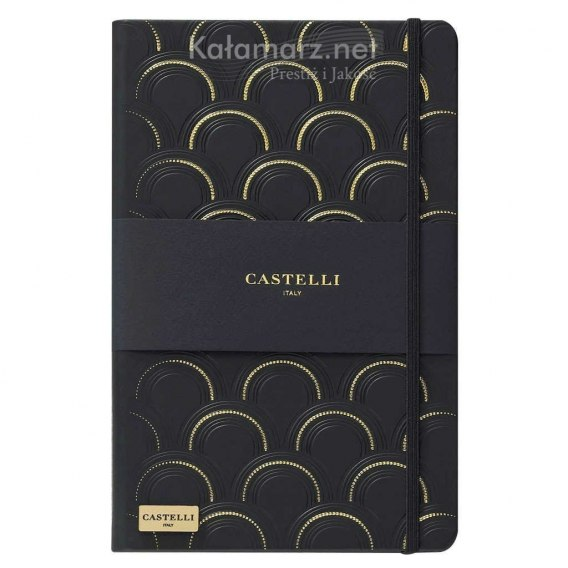 NOTATNIK NOTES CASTELLI IVORY BLACK&GOLD - ART DECO