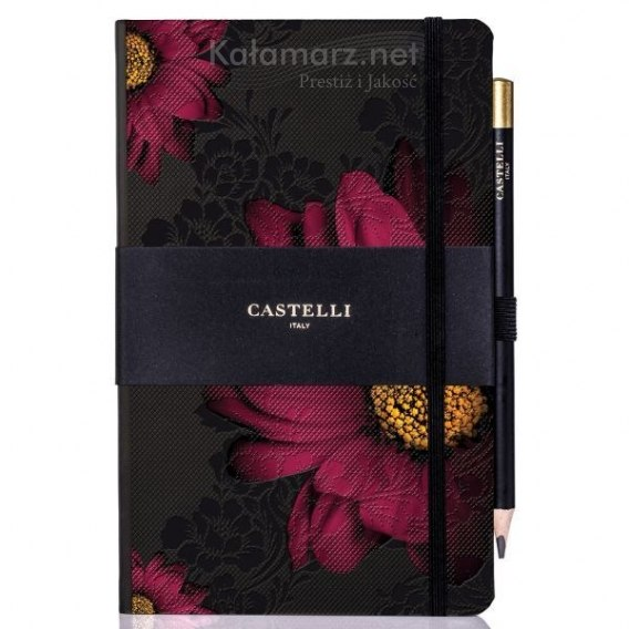 NOTATNIK NOTES CASTELLI IVORY Midnight Floral - GERBERA