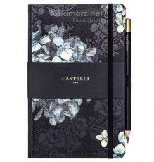 NOTATNIK NOTES CASTELLI IVORY Midnight Floral - HORTENSJA
